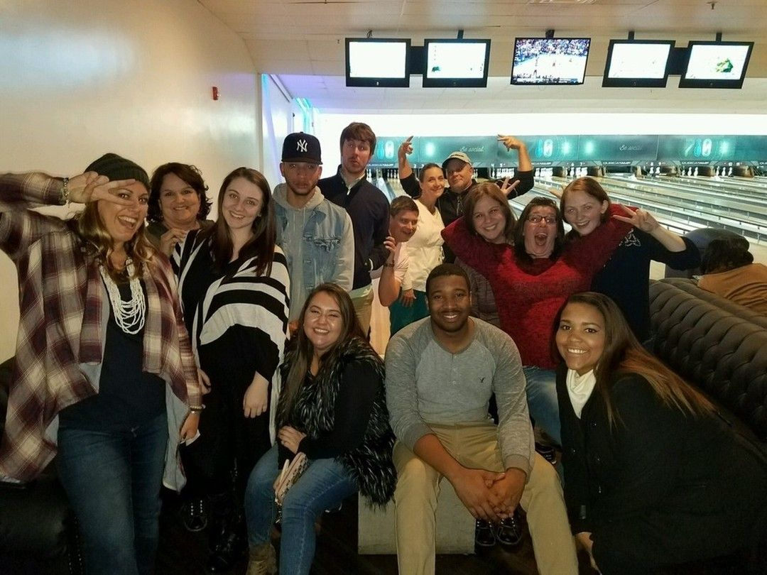 Some of the Elliott Staff had fun at 710 Bowling! #goodtimes #silly #competitive #greatplace #bowl #games