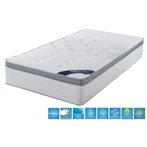 Brassex 11.5-inch Pillow Top Mattress with Pocket Coil and Memory Foam
