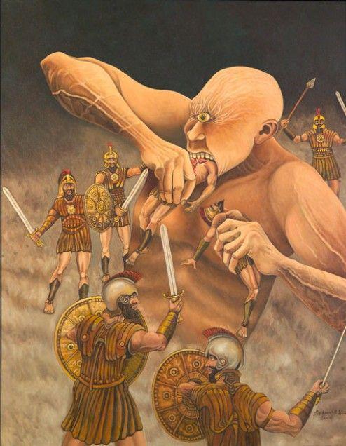 Richard K Diran The Cyclops Polyphemus Tags Odyssey Ulysses Odysseus Polyphemus Polyfemo Greek Mythology Art Greek And Roman Mythology Greek Creatures