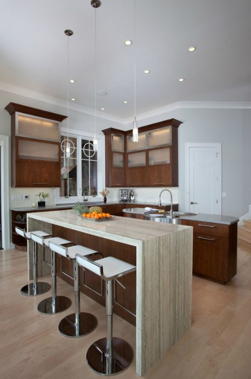 Waterfall Countertop Edge Photos | Your New Countertop Edges: Square,  Bullnose, Waterfall?