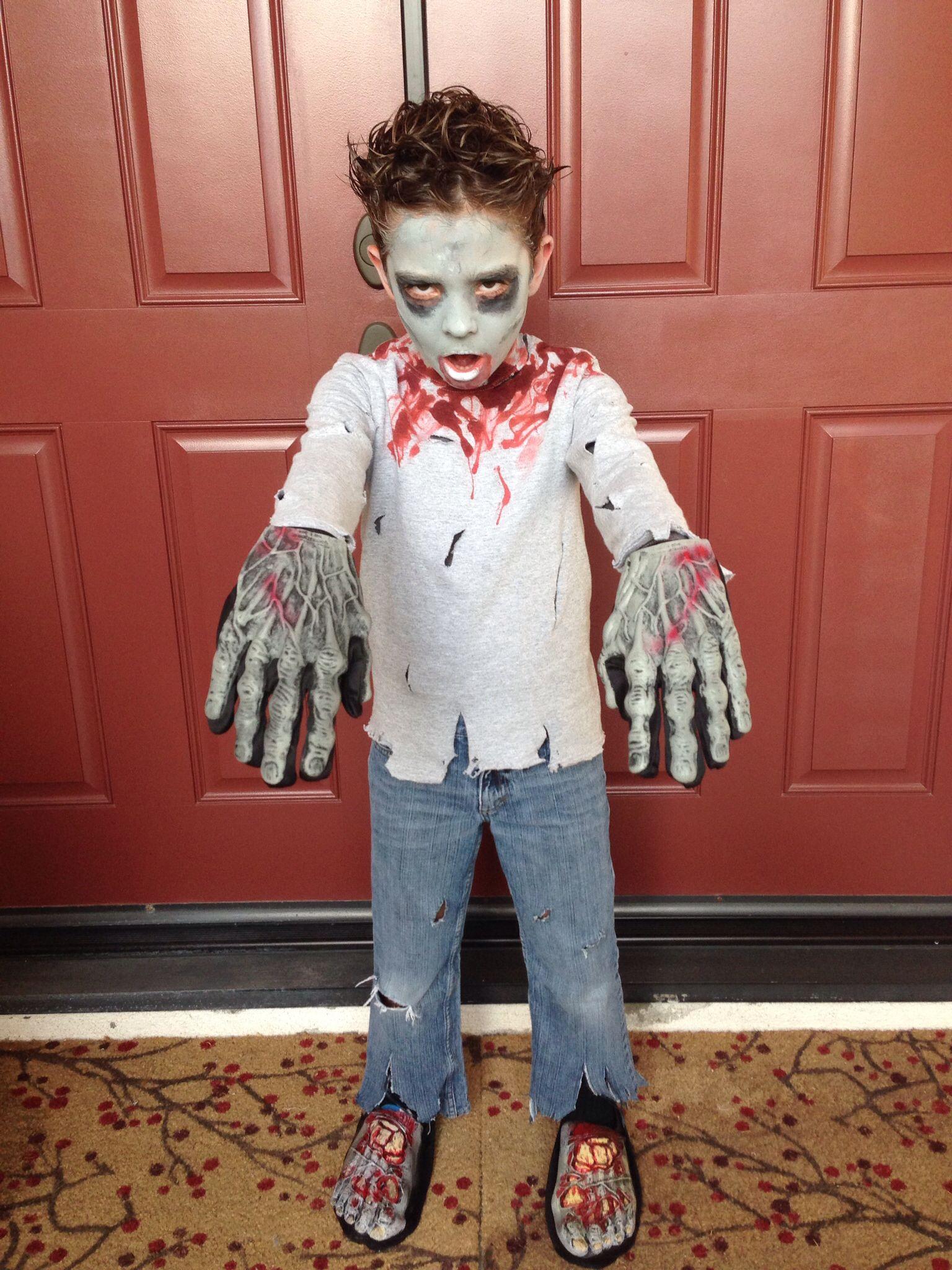 boy zombie kinderen feestjes schminken e a pinterest halloween kost m f r kinder und. Black Bedroom Furniture Sets. Home Design Ideas