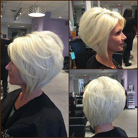 Gestapelte Platinblond 20 Neueste Abgewinkelte Bob Haarschnitte 2018 Bobs For Thin Hair Thick Hair Styles Angled Bob Hairstyles