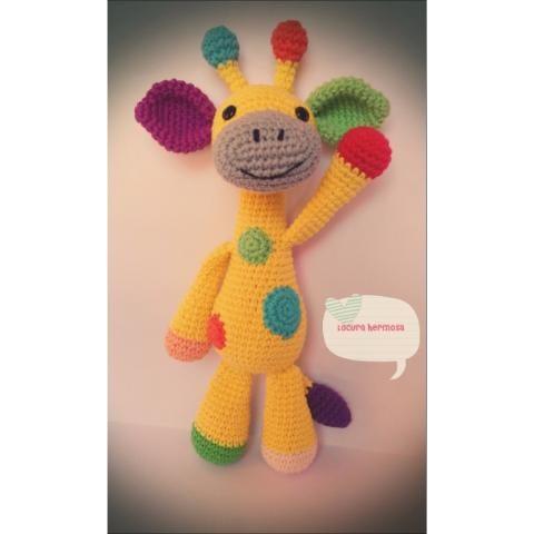 Jirafa Crochet Amigurumi Muñeco Tejido A Mano en venta en Encinal ... | 480x480