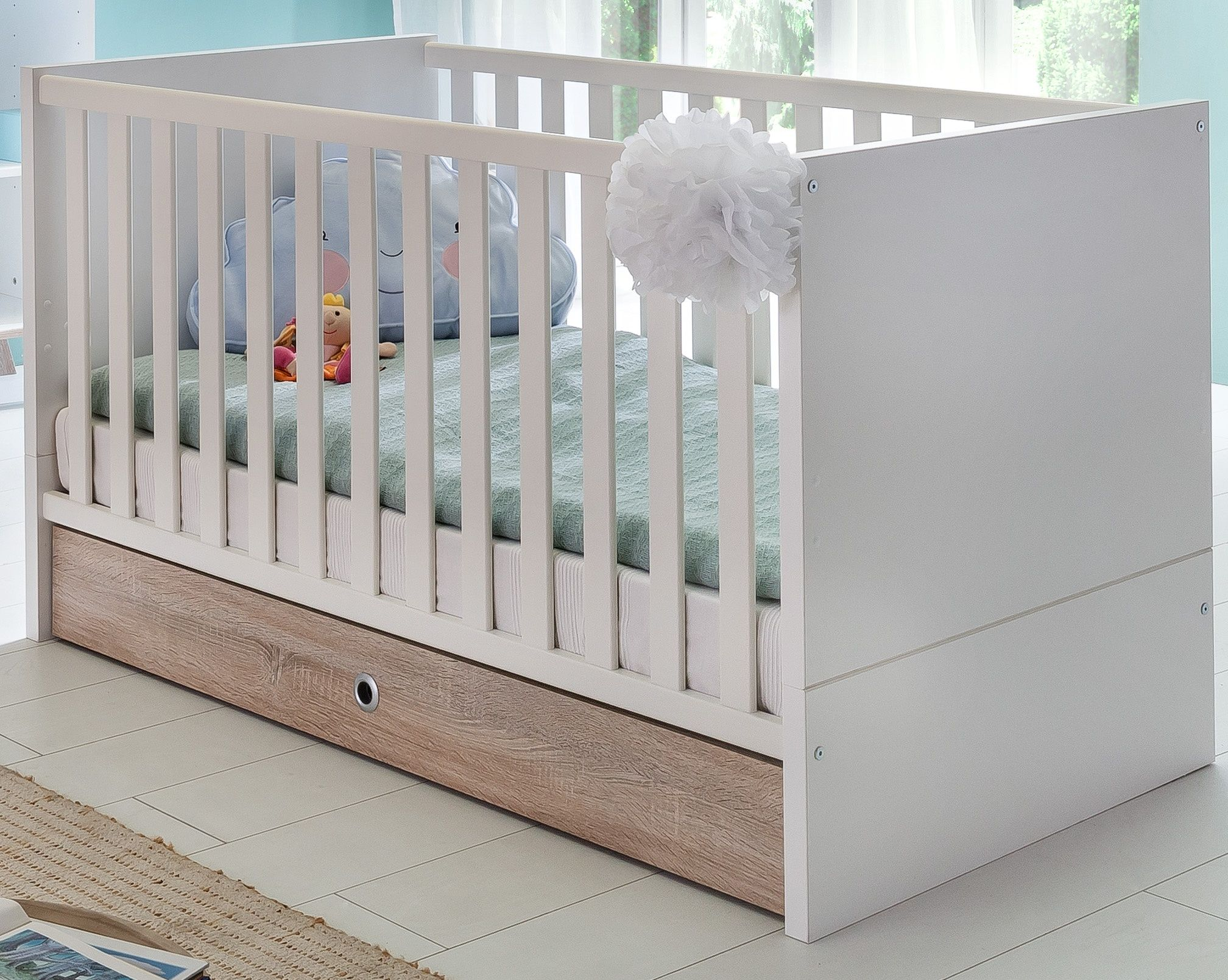 Babybett Weiss Woody 132-01699 Alpinweiss Holz Neutral Jetzt bestellen unter: https://moebel.ladendirekt.de/kinderzimmer/betten/kinderbetten/?uid=2572404a-dab1-55bb-acc6-d8245b1320b4&utm_source=pinterest&utm_medium=pin&utm_campaign=boards #kinderzimmer #kinderbetten #betten