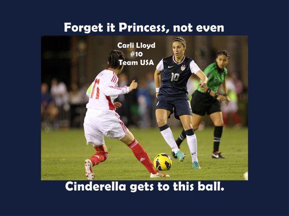 Carli Lloyd Quotes Glamorous Girls Soccer Poster Carli Lloyd Quote Blackarleyartemporium