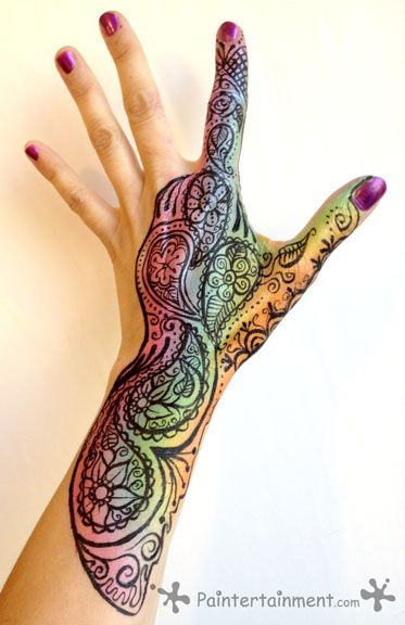 Colorful Henna Designs: Colorful Henna - Google Search