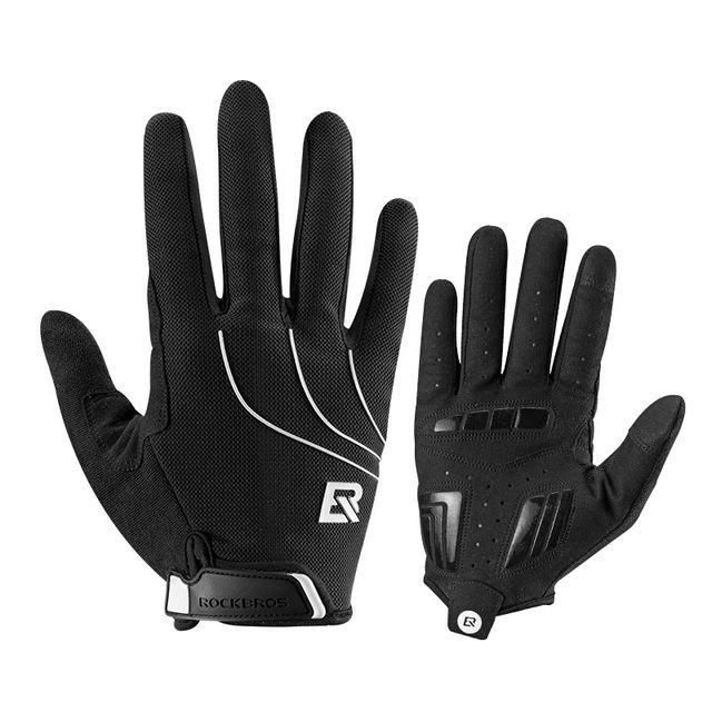 ROCKBROS Men Touch Screen Bike Gloves Winter Thermal Windproof Warm Full Finger