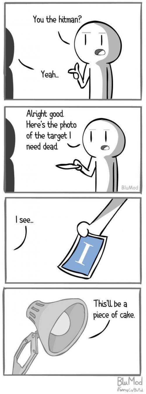 You the hit man? http://ibeebz.com | Funny comics, Funny ...
