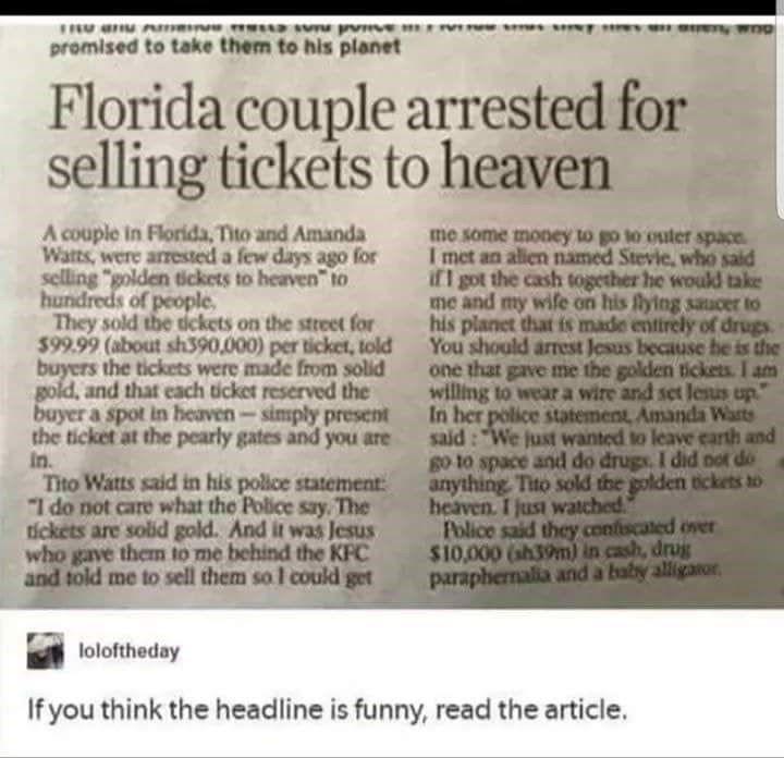 10 Florida Man Moments Of Pure WTF-ery - Memebase - Funny Memes