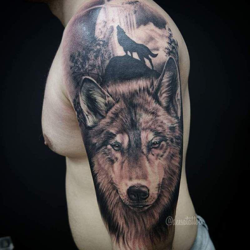 Resultado de imagen para tattoo realismo lobo elvis for Calavera lobo