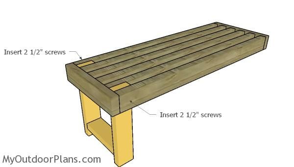 Assembling The Benches Planter Box Plans Wooden Playhouse Planter Boxes