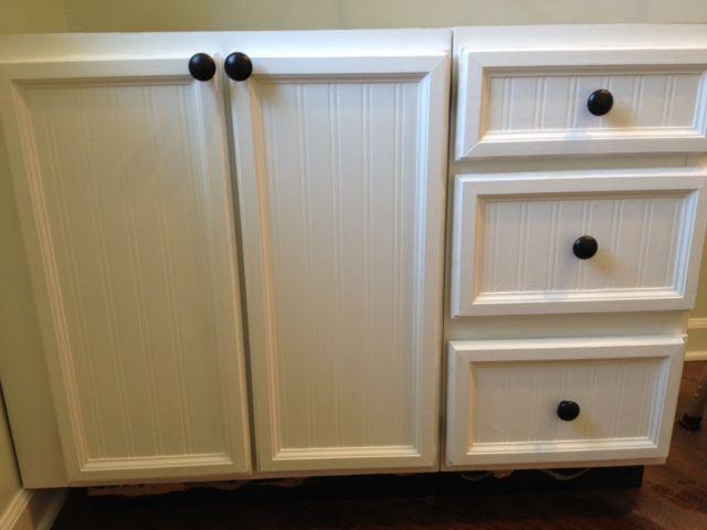 Update Cabinet Doors From Plank Panel To Bead Beautiful Update