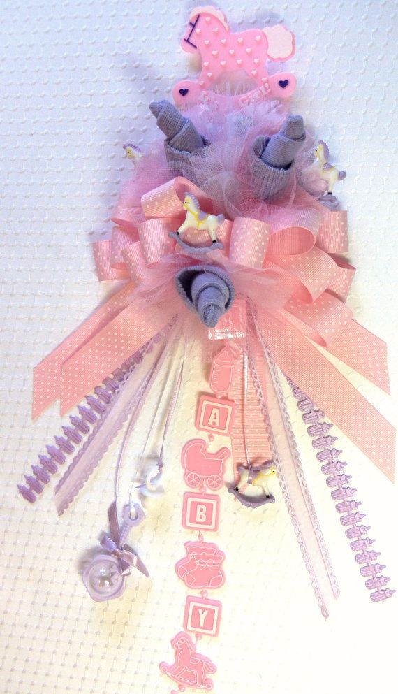 Baby Girl Pink and Lavender Rocking Horse Theme by beesgiftshop, $30.00