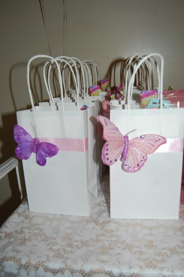 Butterfly favors tea party pinterest favors for Baby shower butterfly decoration ideas