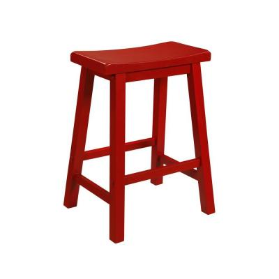 Powell Company 24 In Crimson Bar Stool 286 430 The Home Depot Counter Stools Backless Counter Stools Powell Furniture