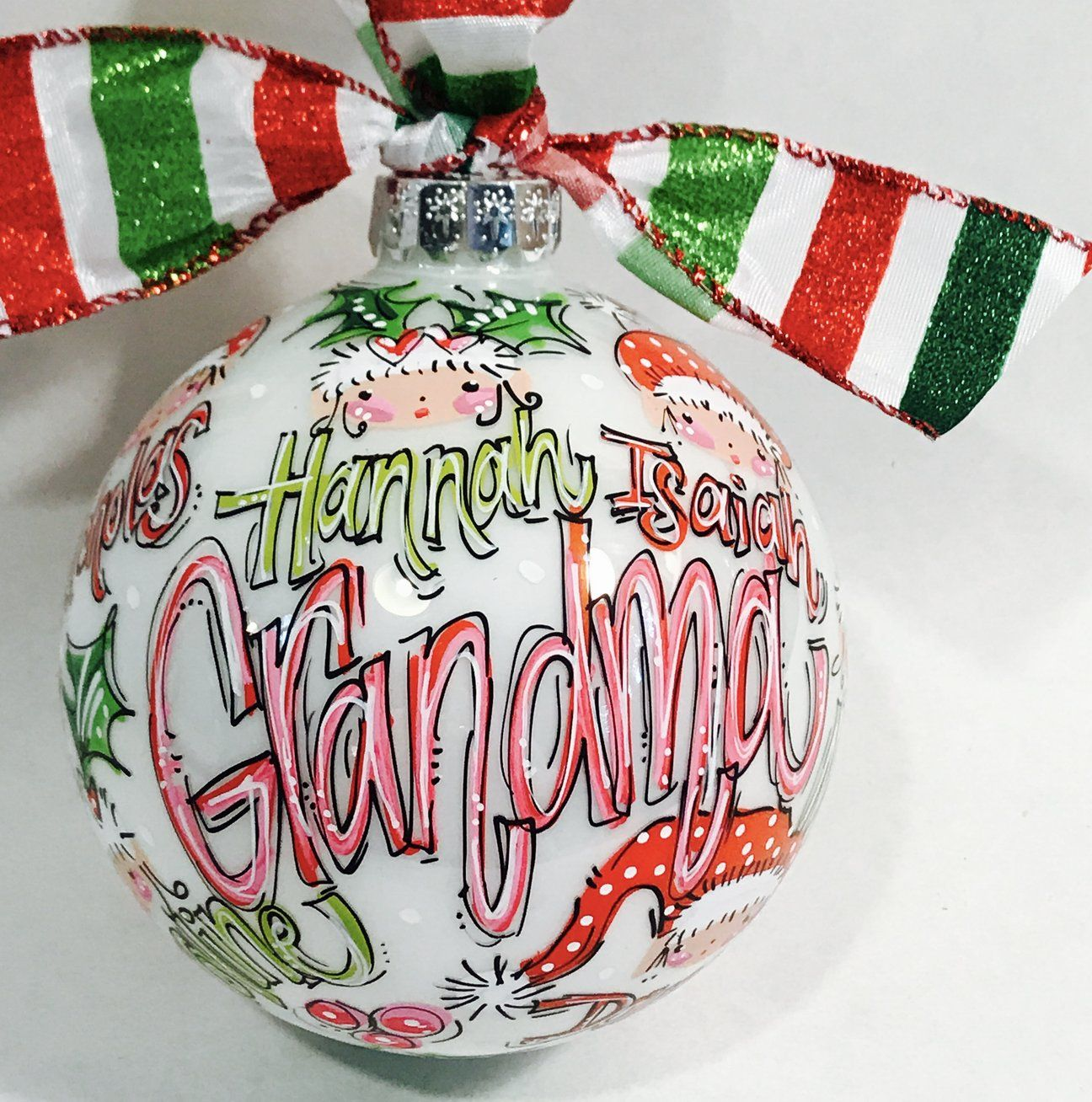 ORNAMENT, PERSONALIZED FAMILY KEEPSAKE Ornament Painted