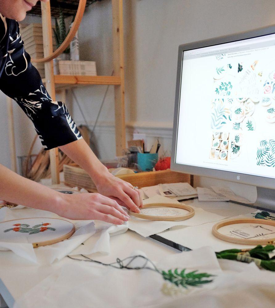 Pour moi, il y a vraiment de la magie dans la broderie, transformer du tissu en œuvre d'art… pour moi c'est magique !