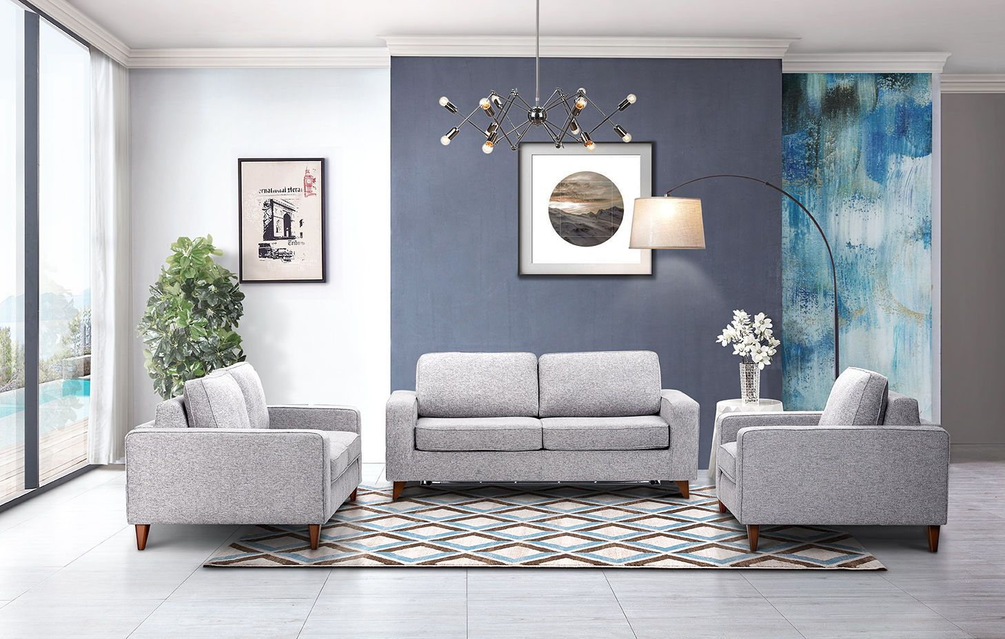 Gary Sofa Living room sets, 3 piece living room set