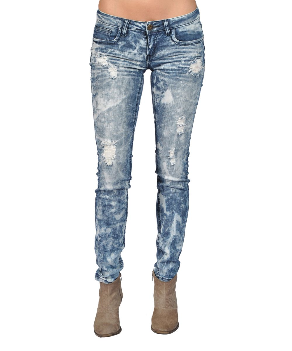 Ariat Damen Reitjeans Real Mid Rise Straight Cascade Electric