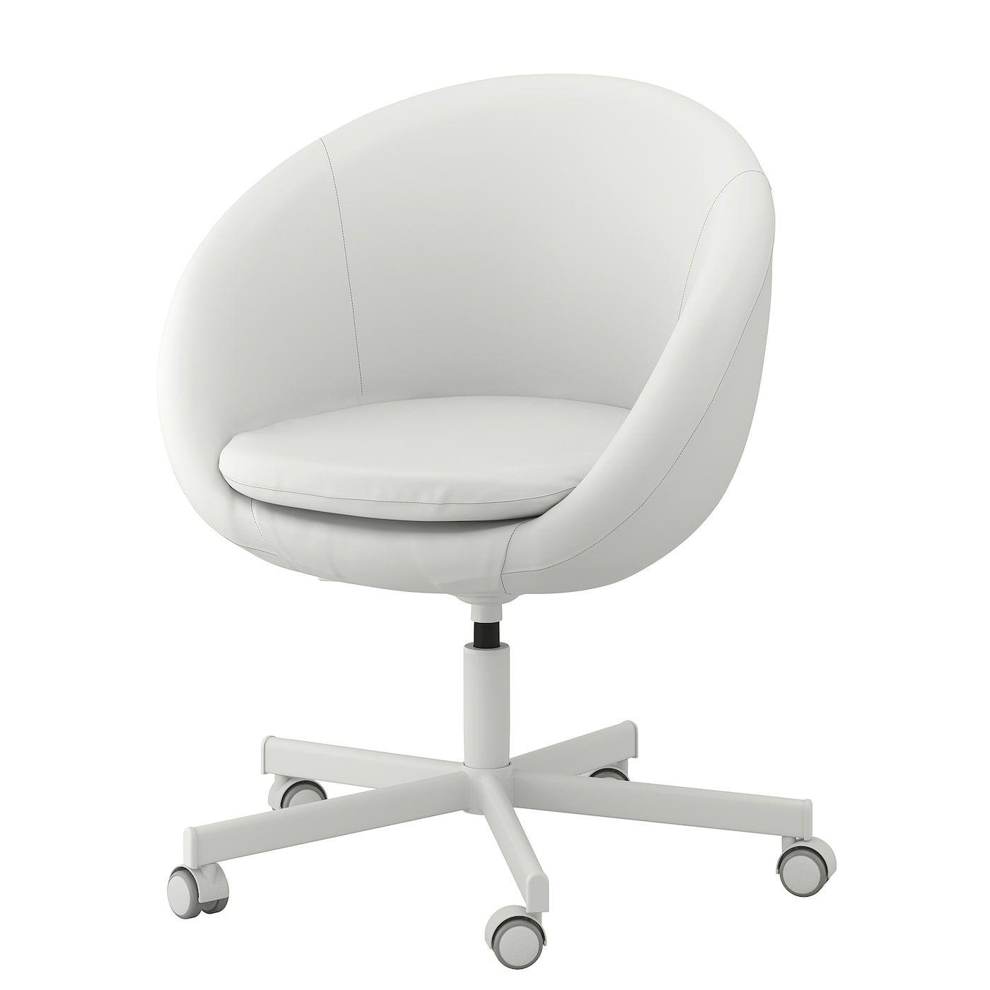 Skruvsta Chaise Pivotante Ysane Blanc Ikea Fauteuil Pivotant Chaises Pivotantes Chaise Ikea