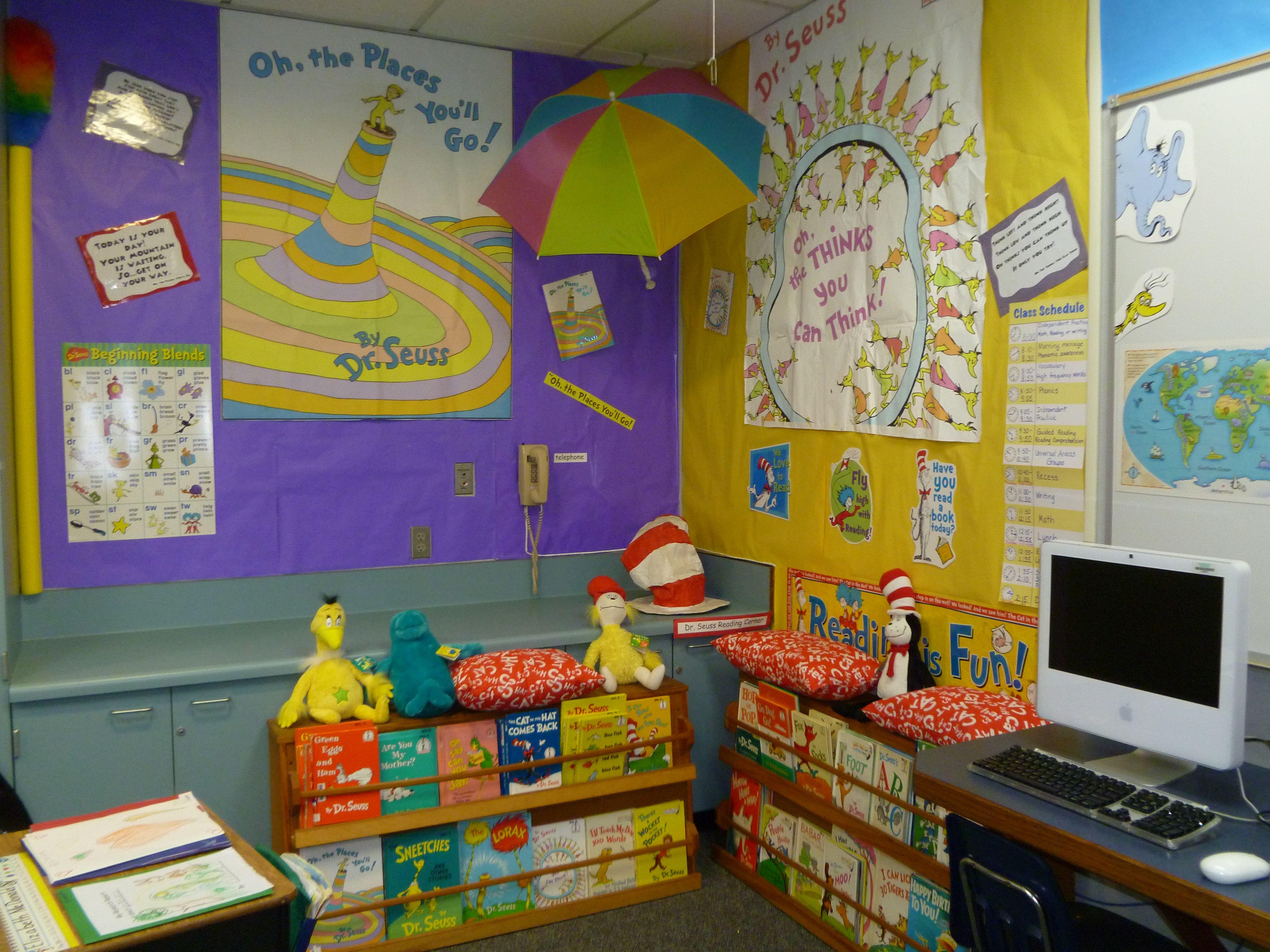 First Grade Class With Dr Seuss Theme