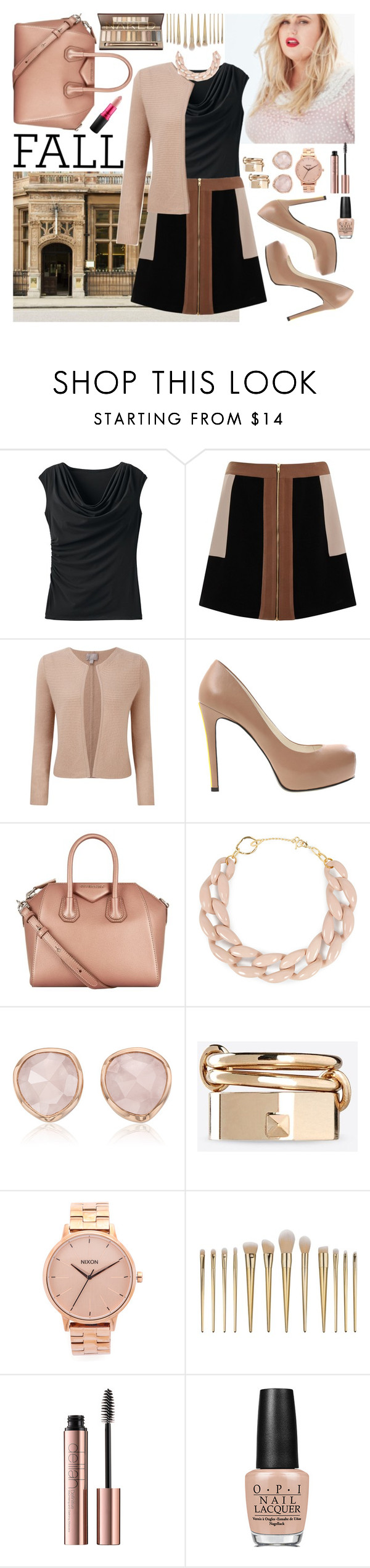 """Fall in the City"" by paperdollsq ❤ liked on Polyvore featuring TravelSmith, Elvi, Pure Collection, Alepel, Givenchy, DIANA BROUSSARD, Monica Vinader, Valentino, Nixon and OPI"
