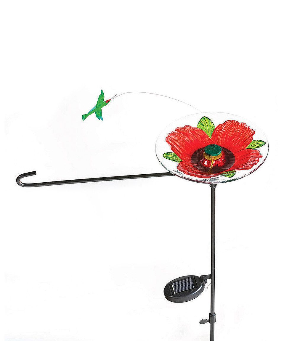 Love This Hummingbird Solar Spinner Outdoor Flag Stand By