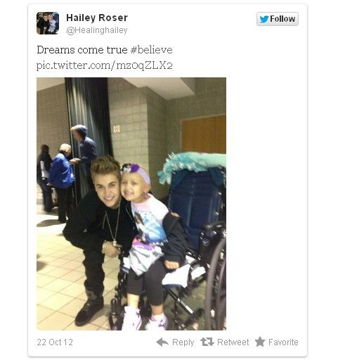 Justin Bieber Surprises Hailey Roser, 4-Year-Old Superfan