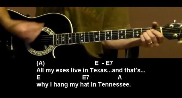 All My Exs Live In Texas George Strait Guitar Lesson Tutorial