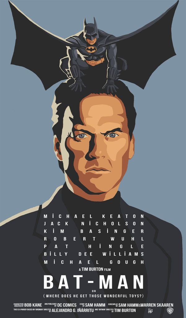 What an awesome concept to merge two Michael Keaton movies (Batman and Birdman) like this - BatBirdMan by hugohugo.deviantart.com on @DeviantArt