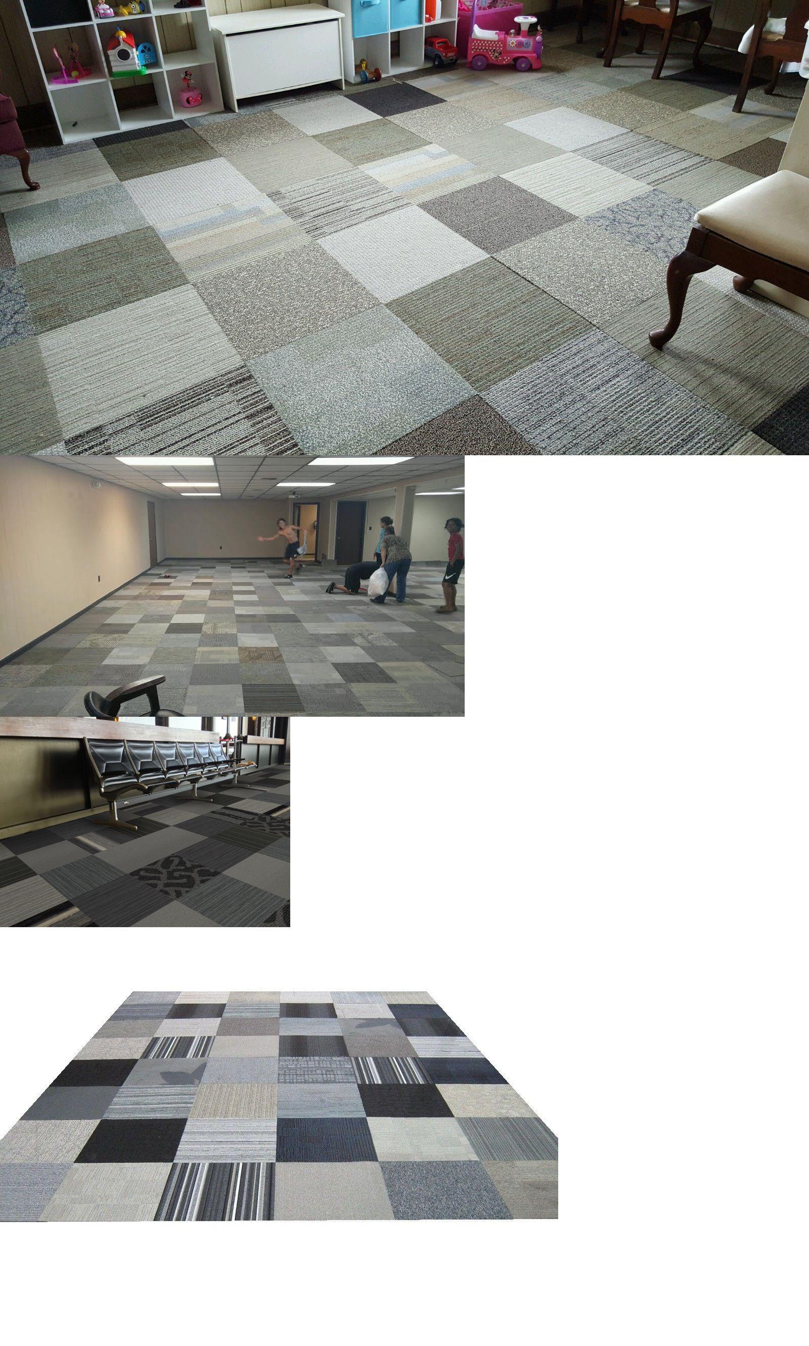 528 Sq Ft Shaw Brand New Carpet Tile Square Tiles Gray Black Silver Modular Carpet Tiles New Carpet Square Tile