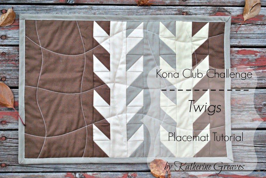 Sew Sisters Quilt Shop: Kona Club Challenge - Twigs Placemat by ... : sew sisters quilt shop - Adamdwight.com