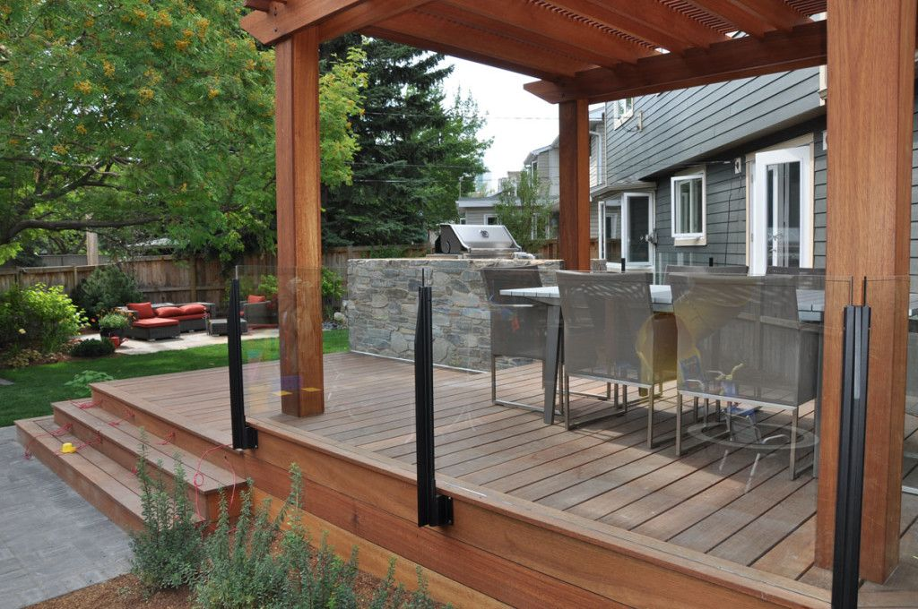 Image result for deck glass railing   Railings outdoor ...