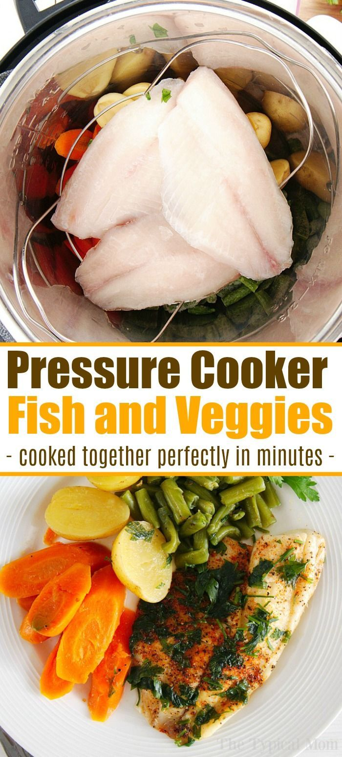 Photo of Pressure Cooker Fish and Vegetables Together!