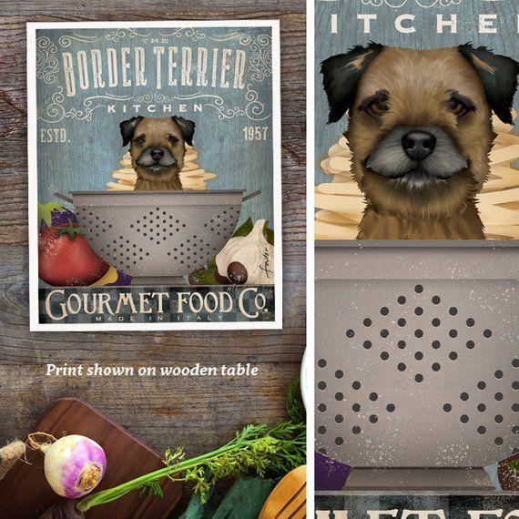 Border Terrier Dog Dog Lover Kitchen Chef Kitchen Decor