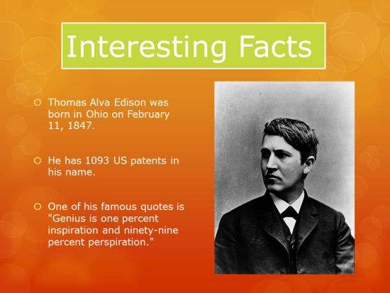Thomas Edison Interesting Facts Powerpoint Lesson Plans Fun Facts Technology Lessons