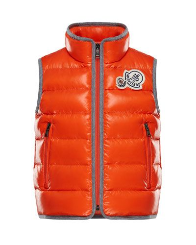 1b54e70f4dd9 Moncler Bramont Contrast-Trim Quilted Vest