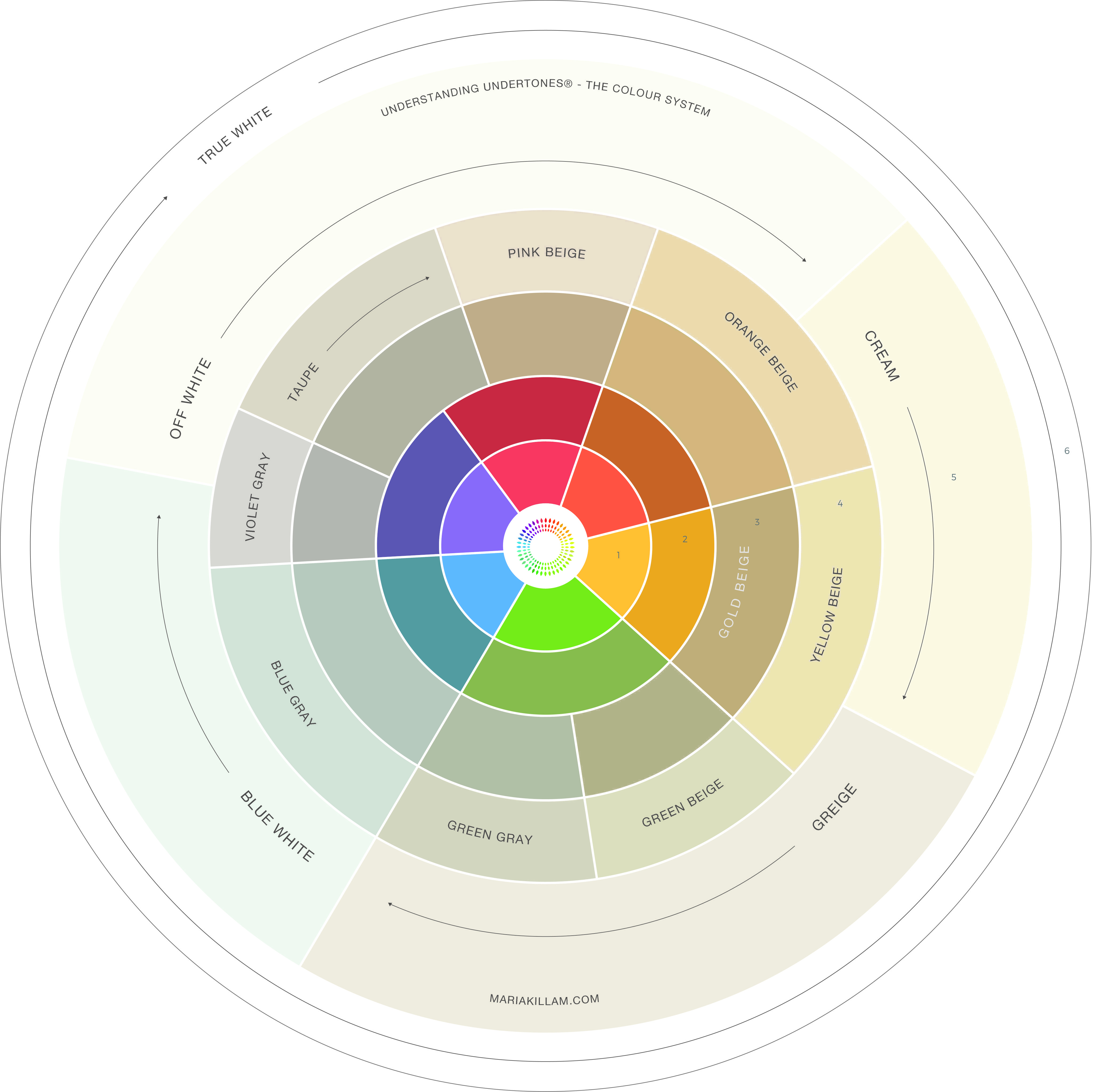 Color Undertone Chart Choosing Color Pinterest Room Color