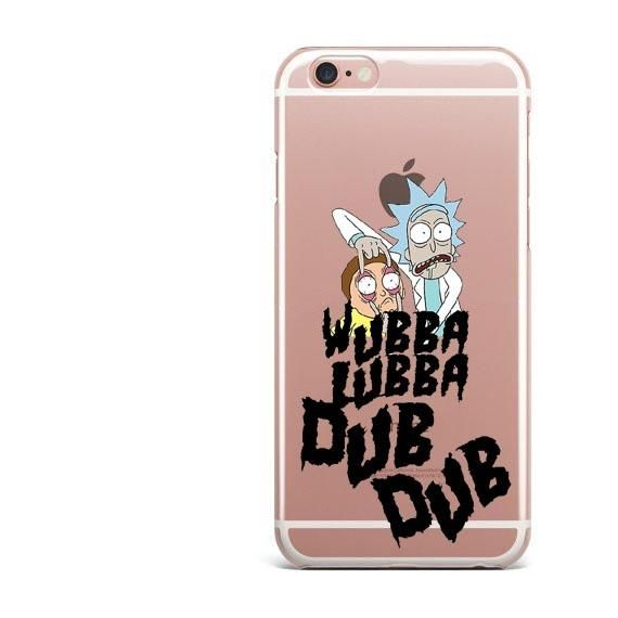 buy online 3a3bf 191d4 Rick And Morty Soft Clear TPU Phone Case For iPhone 7 7Plus 6 6S ...