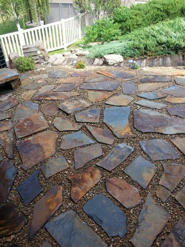 Iron slate patio & Iron slate patio   My DIY :)   Pinterest   Patio Slate patio and ...