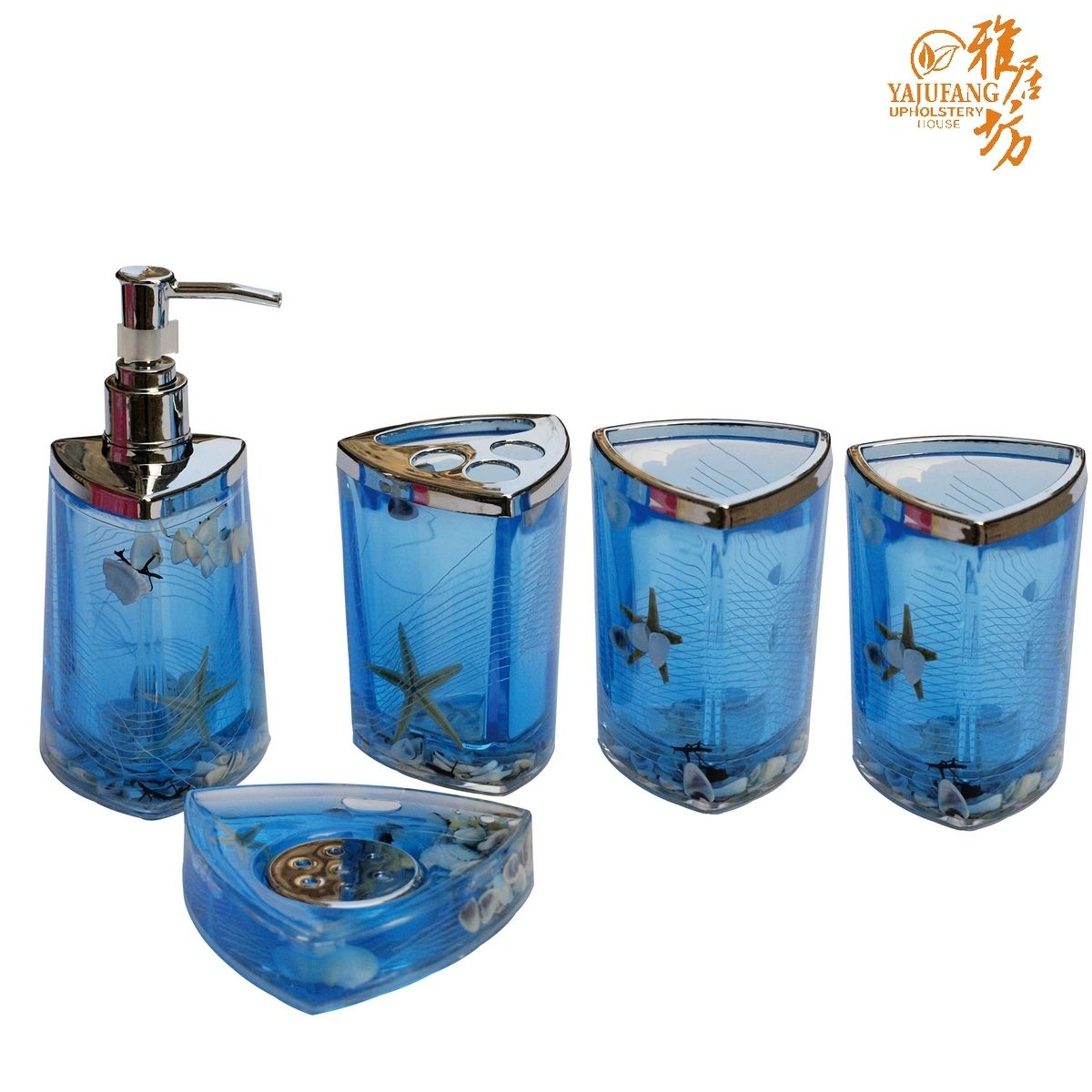 Shell Blue Ocean Bath Wash Set Bathroom