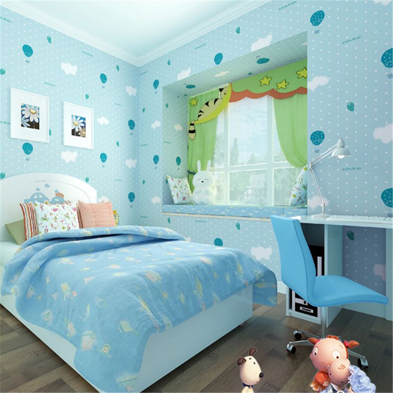 Beibehang Environ Mentally Friendly Non Woven Wallpaper Warm Children Bedroom Cute Pink Strawberry Parachute Affiliate