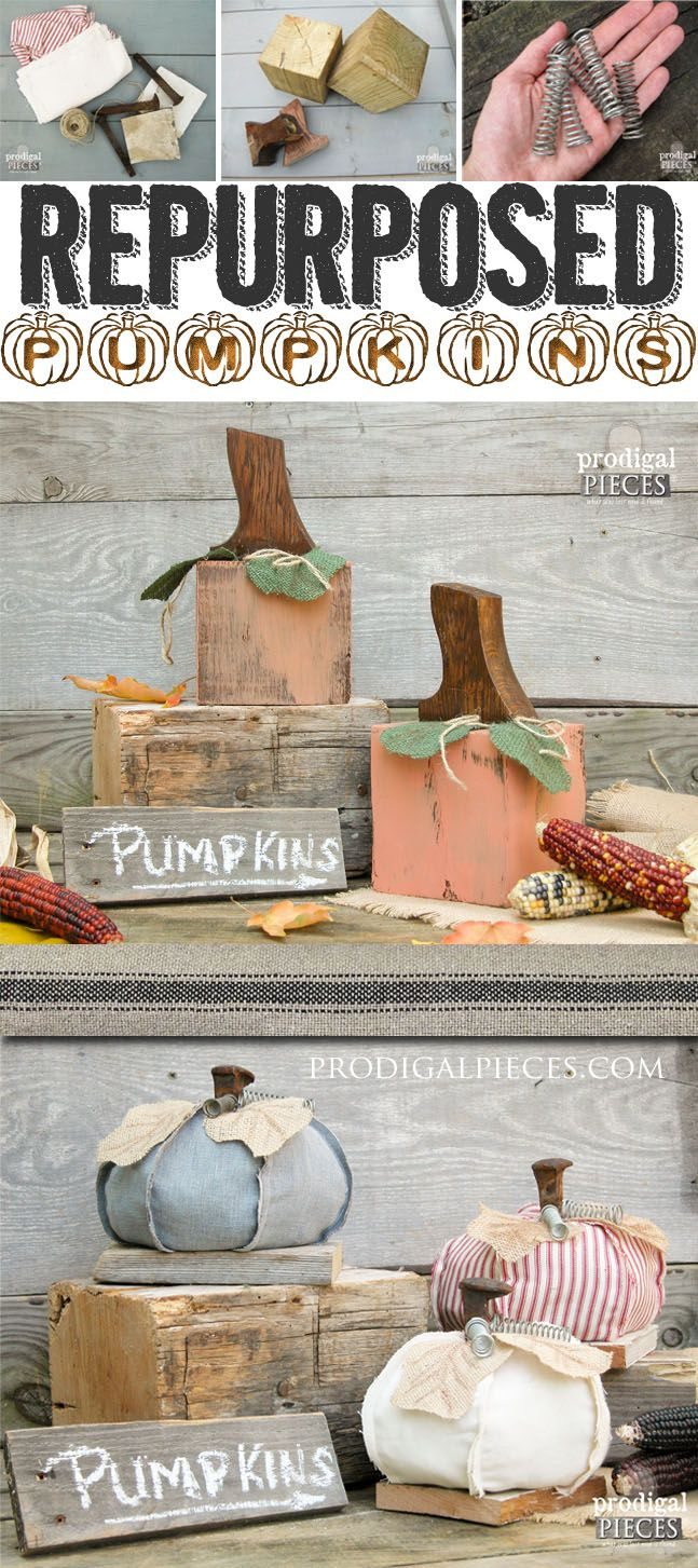 Repurposed Pumpkins - Gettin' junky with it! - Prodigal Pieces