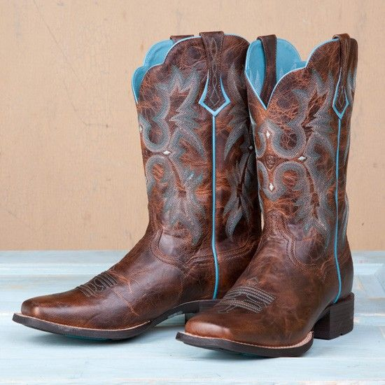 Ariat Sassy Brown & Turqoise Tombstone | Brown