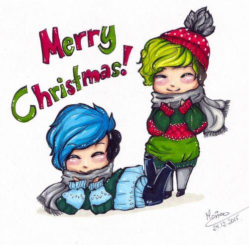 sololonandshuttup: Marry christmas!! Jackaboy and markimoo fan art ...