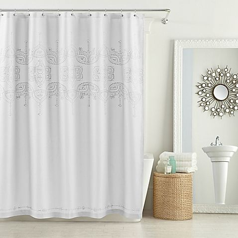 AnthologyTM Scarlet 72 Inch X Shower Curtain In White