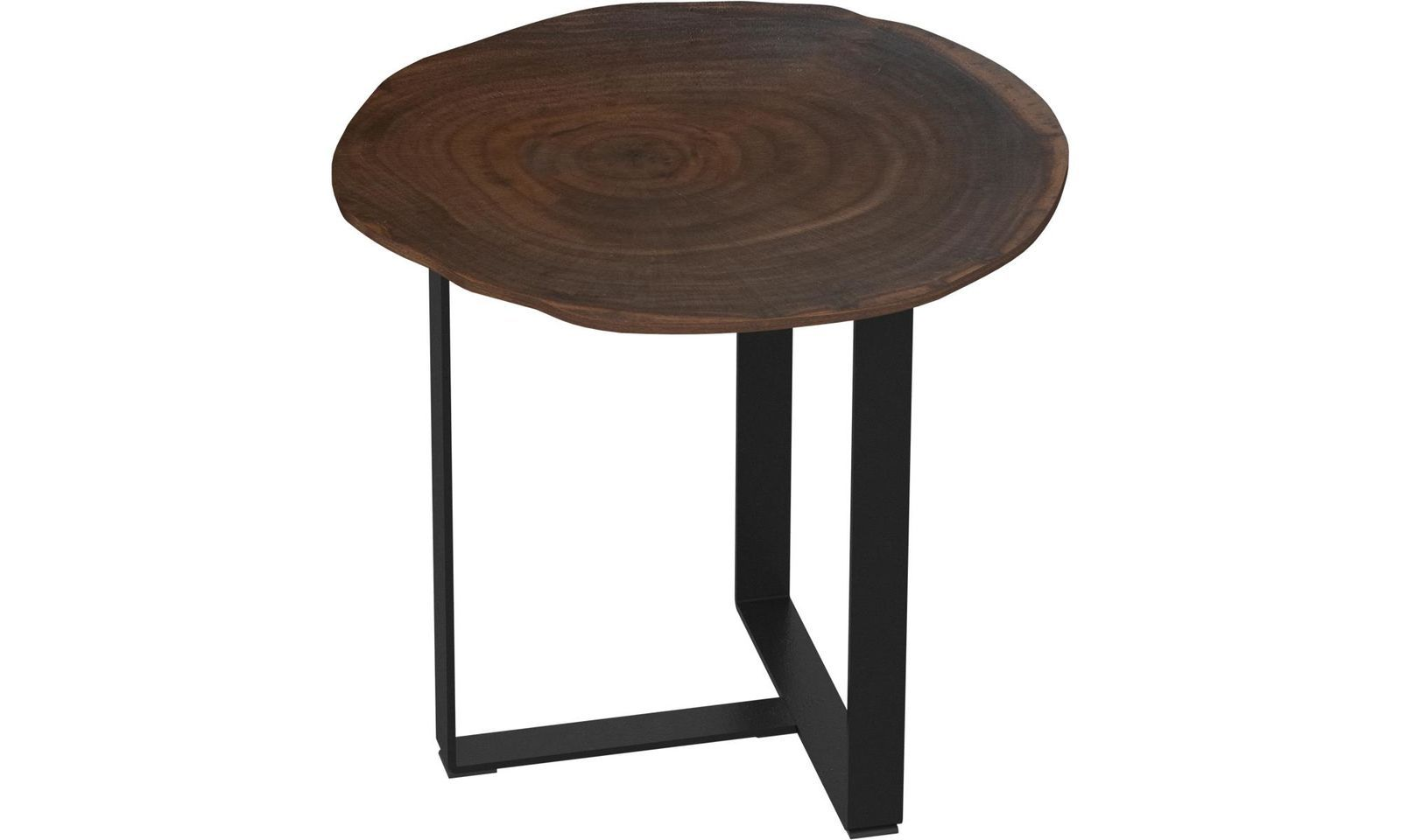 Side Tables Basel Side Table Round Brown Lacquered