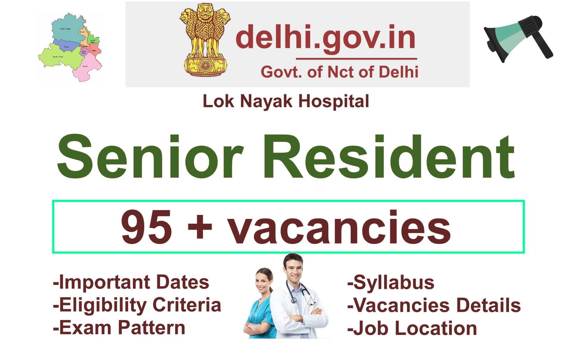 LokNayak Hospital Recruitment 2020 Apply in 2020 Senior