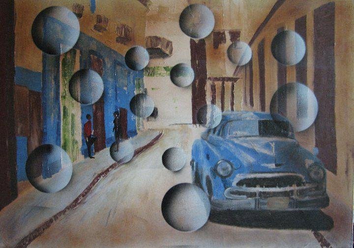 Acrylmalerei - Bubbles XXV - Havanna - Original Bild von MJ-Arts - ein Designerstück von Sandlilien bei DaWanda