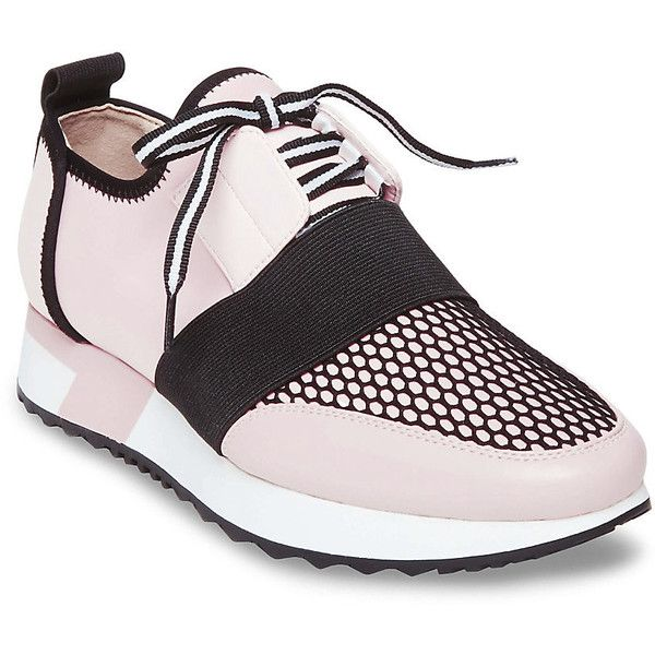 Steve Madden Antics Sneakers ($90) ❤ liked on Polyvore featuring shoes,  sneakers, pink multi, pink platform sneakers, synthetic shoes, steve madden…